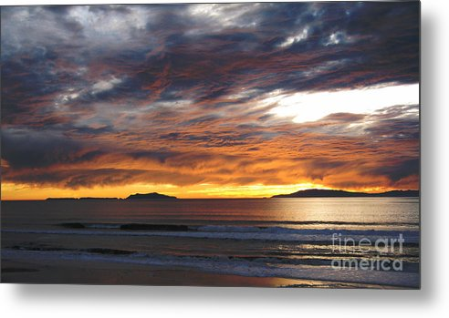 Sunset Metal Print featuring the photograph Sunset At The Shores by Janice Westerberg