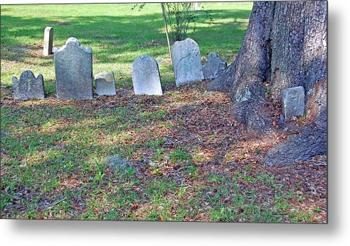 Grave Metal Print featuring the photograph The Headstones Of Slaves by Suzanne Gaff
