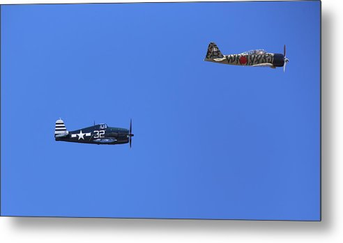 Grumman Metal Print featuring the photograph Wwii Planes by Paul Fell