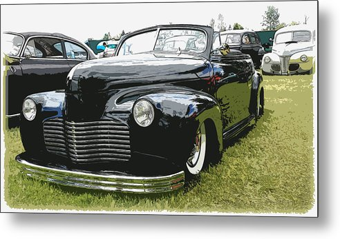 Hot Rod Metal Print featuring the photograph 1940 Chevy Convertable by Steve McKinzie