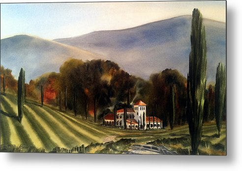 Metal Print featuring the painting Vintage Year by Don F Bradford