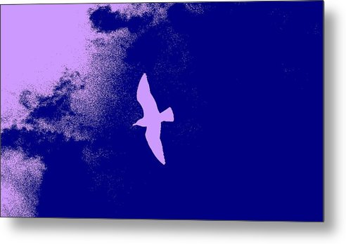 Nature Metal Print featuring the digital art Flying Solo by George Sceniak