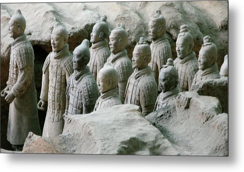 Terracotta Army Metal Print featuring the photograph Terracotta Army Xi'an by Jessica Estrada