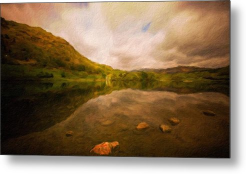 Landscape Metal Print featuring the painting Landscape Definition Nature by World Map