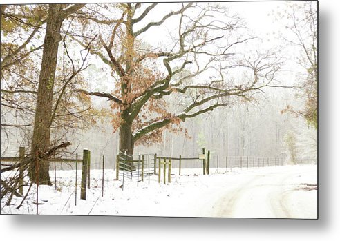 Winter Metal Print featuring the photograph Around The Bend by Peter Muzyka