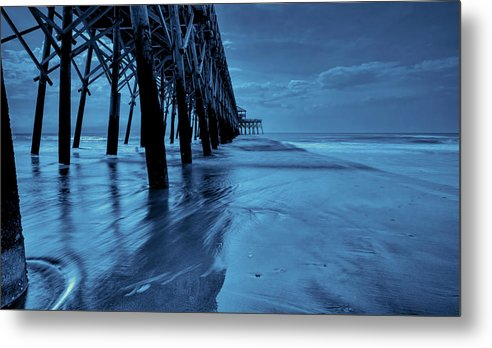 Pier Metal Print featuring the photograph Blue Pier by RC Pics