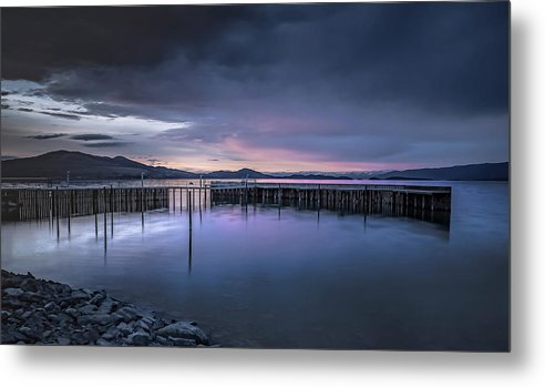 Flathead Lake Metal Print featuring the photograph Earth Day Sunset Unsigned by Steven Clevidence