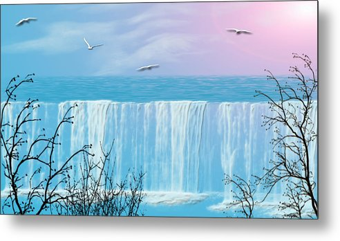Waterfall Metal Print featuring the photograph Free Falling by Evelyn Patrick