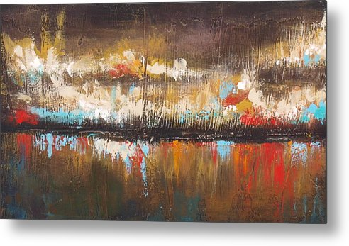 Texture Metal Print featuring the painting Indian Summer by Ellen Lewis