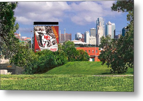 Landscape Metal Print featuring the photograph Kansas City Sky Line by Steve Karol