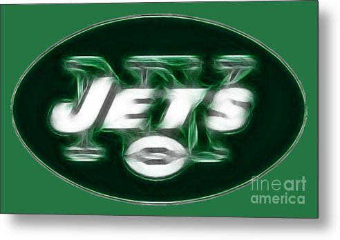 Ny Jets Logo Metal Print featuring the photograph Ny Jets Fantasy by Paul Ward