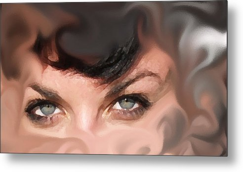 Eyes Metal Print featuring the photograph Pop Art Eyes by Heather Coen