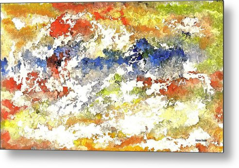 Abstract Art Metal Print featuring the digital art Stormy Weather by Hema Rana