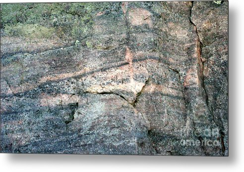 Rock Metal Print featuring the photograph Striations 2 by Terry Matzke