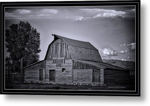 An Old Barn In Jackson Metal Print featuring the photograph This Old Barn by Brenda D Busskohl