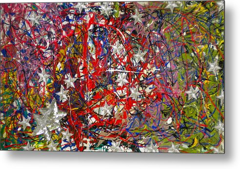 Red White And Blue Metal Print featuring the painting True American Colors by Dylan Chambers