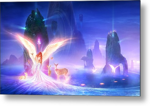 Philip Straub Metal Print featuring the painting Utherworlds Ooulana by Philip Straub