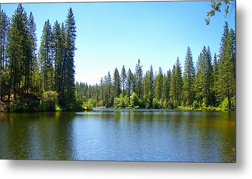 Bass Lake Metal Print featuring the photograph A Quiet Place - Bass Lake by Glenn McCarthy Art and Photography