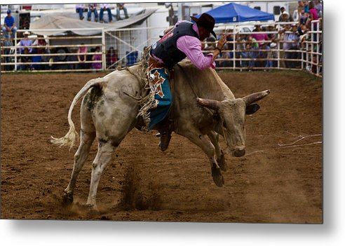Rodeo Metal Print featuring the photograph 8 Seconds In Sonoita by Patrick Moore
