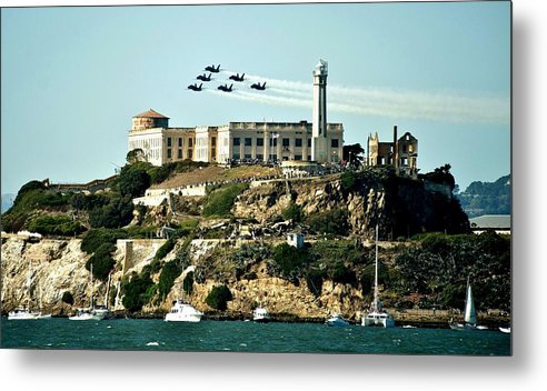 Blue Angels Metal Print featuring the photograph Alcatraz Blues by Benjamin Yeager