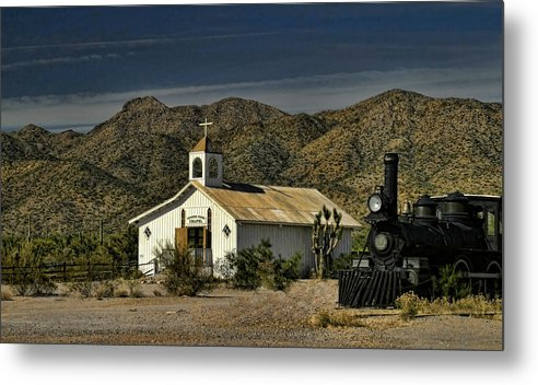 Chapel Metal Print featuring the photograph Crooked Creek Chapel by Carolyn Fletcher