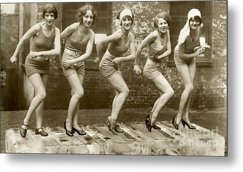 Cheers to the Second Roaring Twenties - Flapper Girls Metal Print featuring the photograph Flapper Girls by Jon Neidert