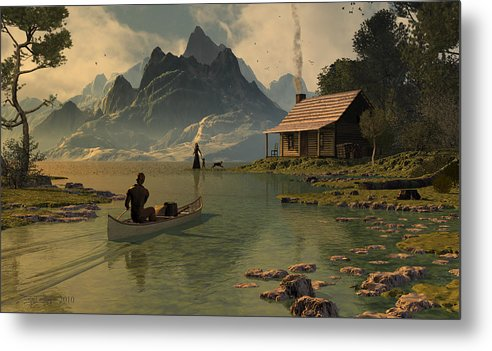Dieter Carlton Metal Print featuring the digital art For All That I Can See by Dieter Carlton