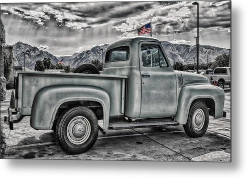 1954 Metal Print featuring the photograph Ford Side View Dramatic Ssc by Mitch Johanson