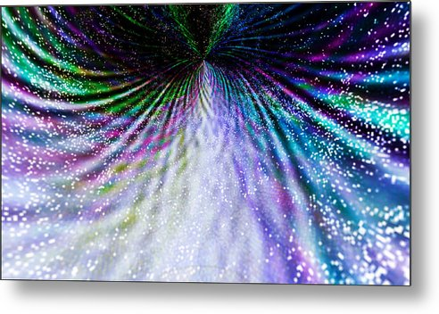 Fractal Metal Print featuring the digital art Goddess Stardust Creating Butterfly by Rebecca Phillips