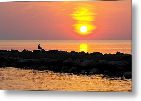 Sunset Metal Print featuring the photograph Lake Michigan Sunset by Bill Brown