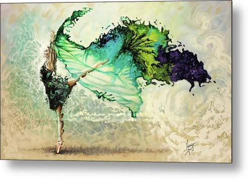 Liberty Metal Print featuring the painting Like Air I Will Raise by Karina Llergo