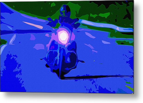 Acceleration Metal Print featuring the digital art Night Rider by Brian Stevens