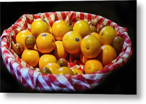 Food Metal Print featuring the photograph Oranges Plus More by Linda Phelps