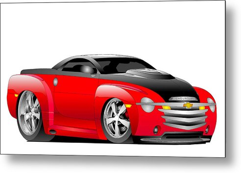 Chevrolet Metal Print featuring the digital art Ssr Toon by Lyle Brown