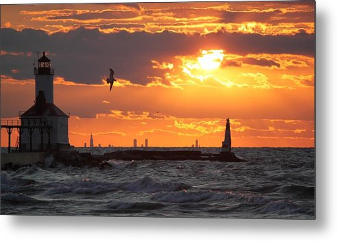 Sunset Metal Print featuring the photograph Taking Flight by Amy Imperato