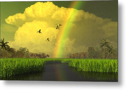 Florida Metal Print featuring the digital art The Gift Of Light by Dieter Carlton