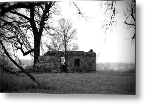 Shed Metal Print featuring the photograph 081612-1 by Mike Davis