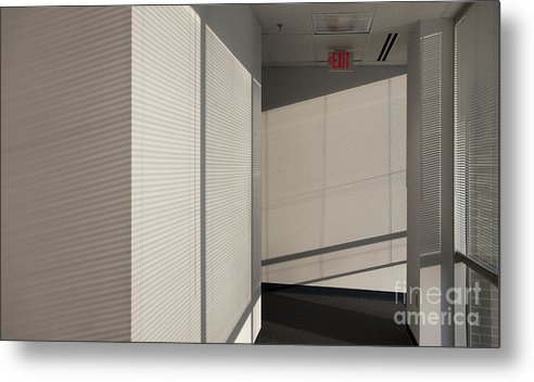 Airy Metal Print featuring the photograph Hallway Of An Office Building by Will & Deni McIntyre