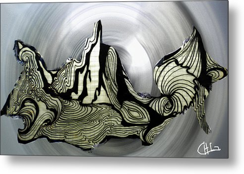 Colette Metal Print featuring the drawing Old Drawing Called Serenity by Colette V Hera Guggenheim