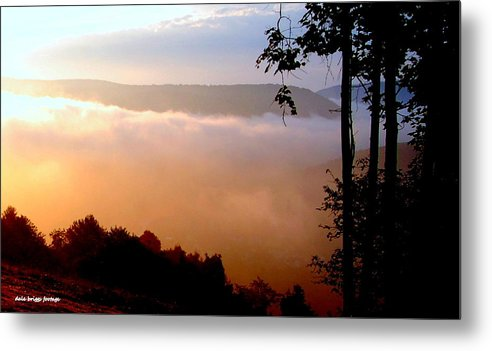 Water Metal Print featuring the photograph Overlook At Laurel Mountain 2012 by Dale Briggs