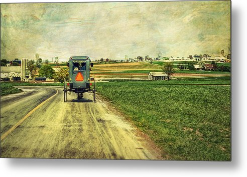 Amish Metal Print featuring the photograph Route 716 by Kathy Jennings