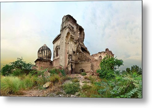 Horizontal Metal Print featuring the photograph Ruins Of Gurdwara by A doctor/photographer from Lahore, Pakistan