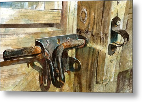 Gate Metal Print featuring the painting Unlatched by Andrew King