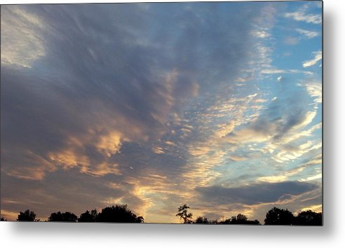 Skyscape Metal Print featuring the print Untitled by Beverly Baxter