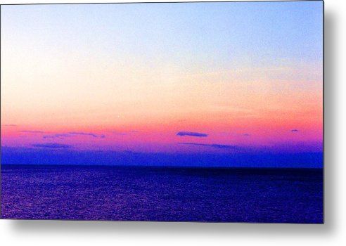 Landscape Metal Print featuring the digital art Blend Above The Lake 233 by Lyle Crump