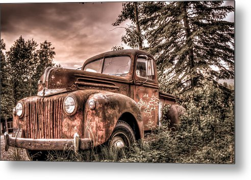 Old Metal Print featuring the photograph Canoe Truck #2 by Chris Atwood