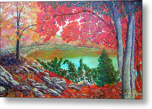 Nixon Metal Print featuring the painting Colors Of Fall by Lee Nixon