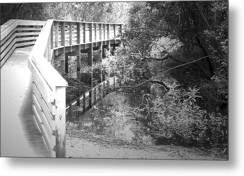 Bridge Metal Print featuring the photograph Crossing Over by Tamivision