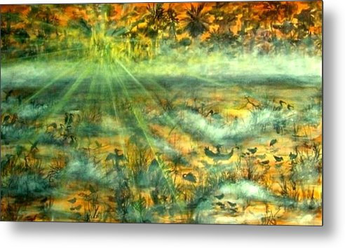 Mist Metal Print featuring the painting Everglades Morning Mist by Ana Bikic
