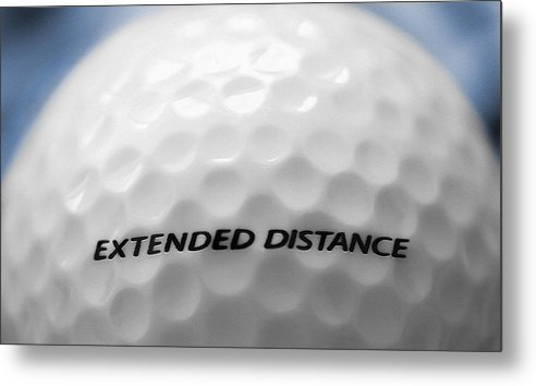 Golf Metal Print featuring the photograph Golf Ball 1 - Extended Distance by Steve Ohlsen